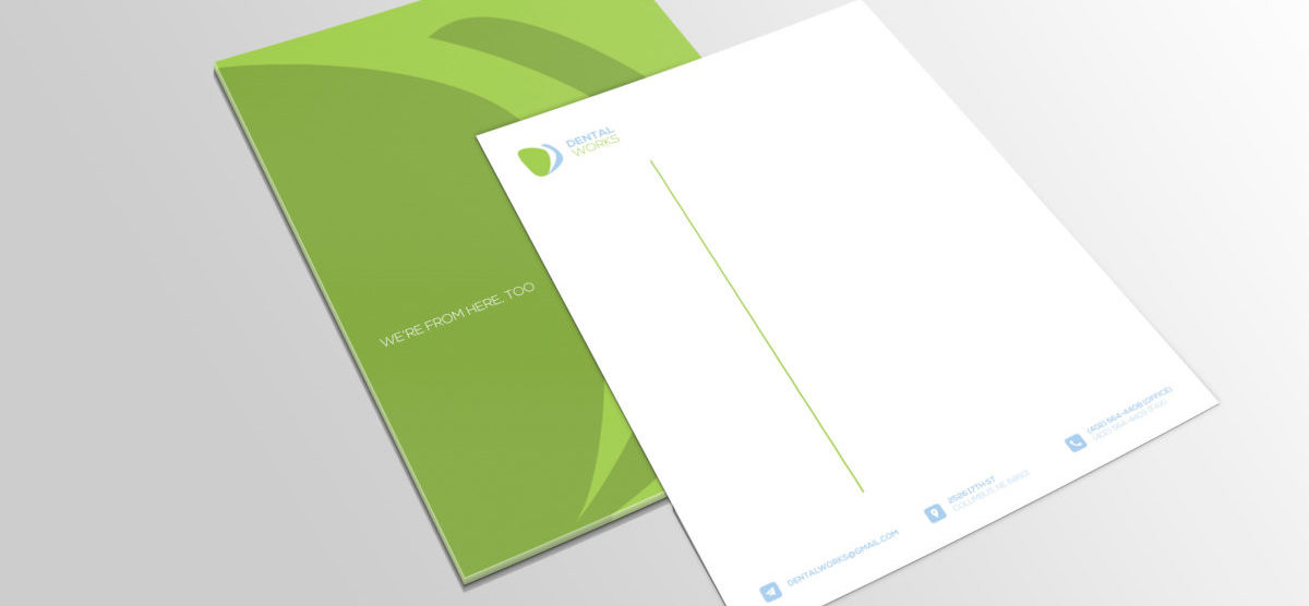 letterhead, dental works