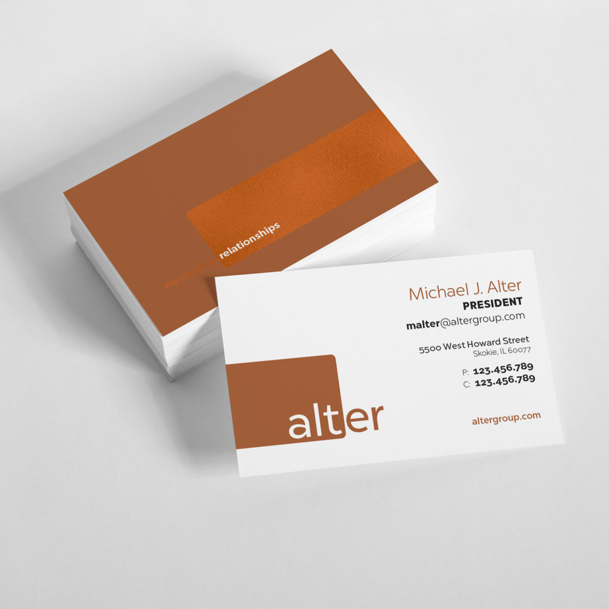 alter business cards