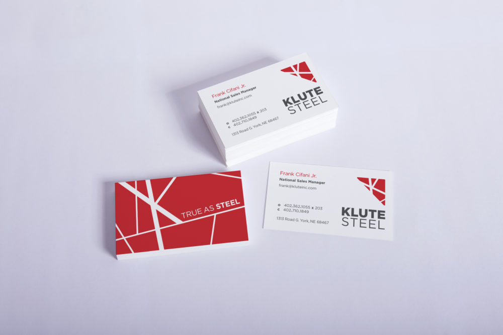 klute business card