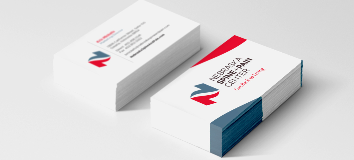 nebraska spine and pain business cards
