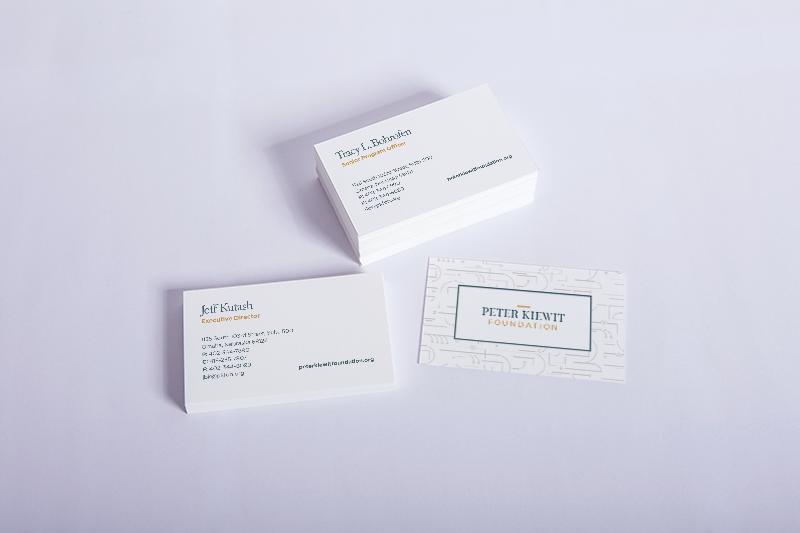 peter kiewit business card